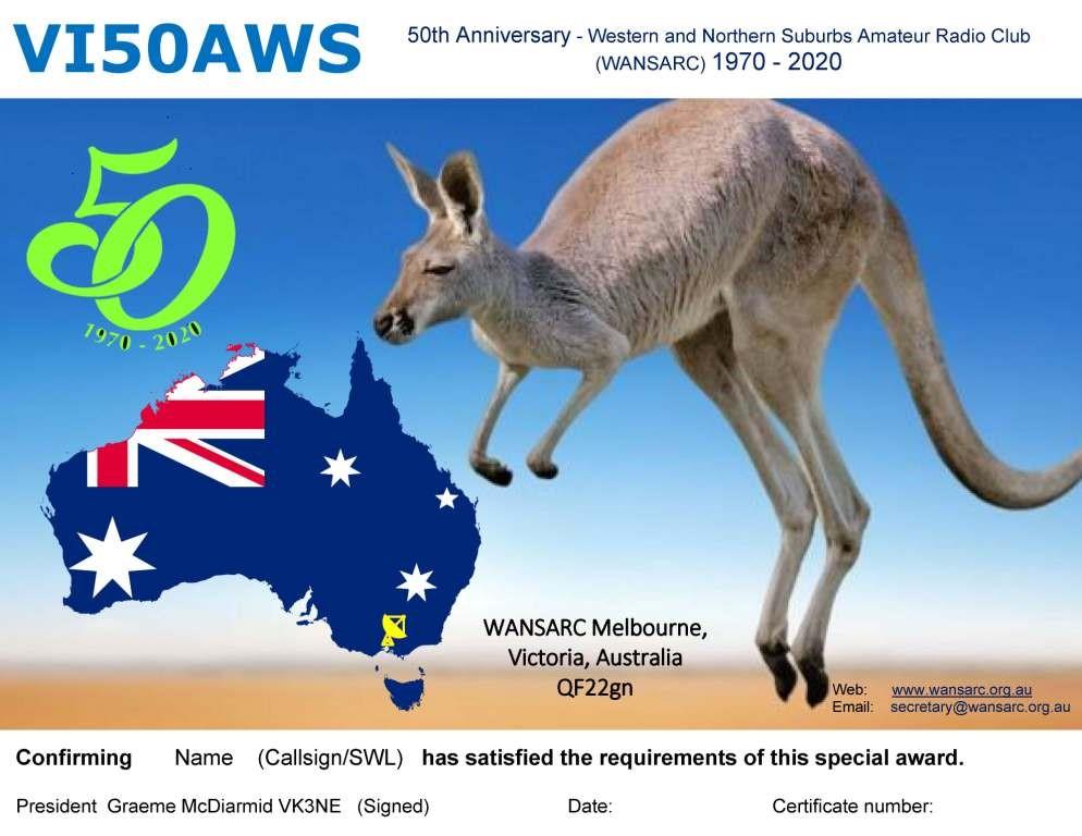 VI50AWS QSL Card